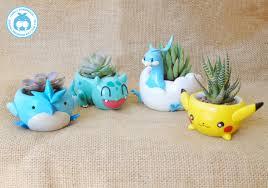 pokemon clay pots succulent plant pots