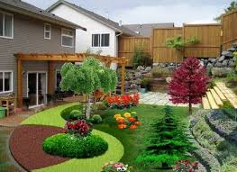 tropical landscape ideas small yards with front yard garden basic