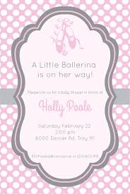 ballerina baby shower invitations gray and pink ballerina baby shower invitation ballerina baby