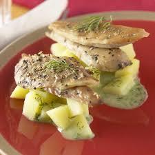 cuisiner le maquereau recette salade de pommes de terre à l aneth et filets de maquereau