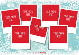 christmas photo collage template free vector download 335329