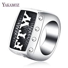 aliexpress buy 2017 wedding band for men 316l aliexpress buy yakamoz letter ftw rock biker rings