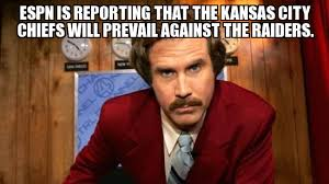 Kansas Meme - raider hater espn is reporting that the kansas city chiefs will