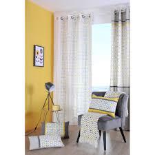 jeter de canape plaid jeté de canapé gris à motifs jaunes et gris avec franges