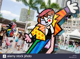 romero britto miami florida shops at midtown miami brush with romero britto