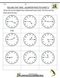 telling time worksheets year 3 quarter past google search