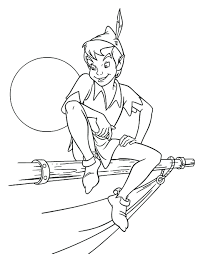 peter pan printable coloring pages coloring