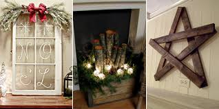 Homemade Christmas Decorations For The Home 100 Rustic Diy Christmas Decor Rustic Diy Home Decor 13