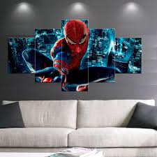 5 pcs print posters spider man movie poster painting modern home