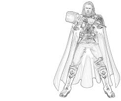 Marvel Thor Coloring Pages Coloringstar Thor Coloring Page
