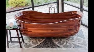 wooden bathtubs custom wood bathtub youtube