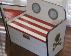 medium hand painted bespoke personalised toy box upcycled