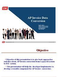 ap invoice conversion invoice application programming interface