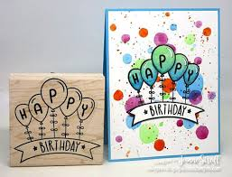 how to make a happy birthday card by jeanne simply stamps university
