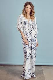 memdalet orion blue white tie dye kimono sleeve maxi dress 89