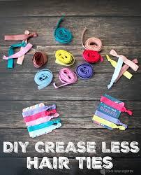 creaseless hair ties diy crease less hair ties home inspiration