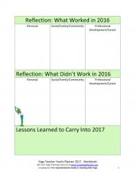 free year planner and visioning workbook for yoga teachers