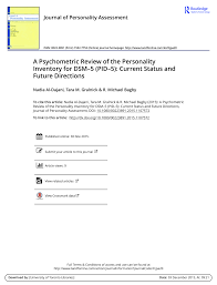 a psychometric review of the personality inventory for dsm u20135 pid