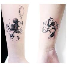 couple tattoo mickey mouse cute mickey and minnie mouse couple tattoo venice tattoo art