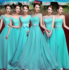 bridesmaid gown aliexpress buy vestido de festa turquoise bridesmaid dress