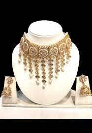 gold choker necklace sets images Polki studded choker necklace set jjr16390 jpg