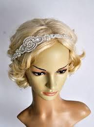 great gatsby headband bridal headband pearls rhinestone wedding headband