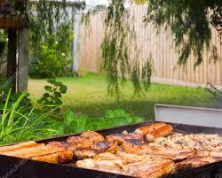 backyard barbeque u2014 stock photo bluewren 2461053