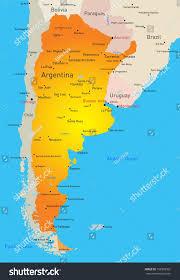 Map Of Estero Florida Vector Color Map Argentina Country Stock Vector 158598302