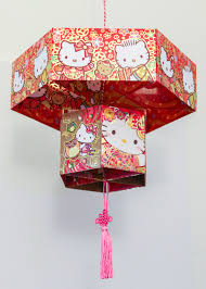 chinese red envelope lantern thirsty for tea