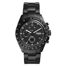 bracelet fossil steel images Men 39 s fossil sport 54 chronograph black steel tone bracelet watch jpg