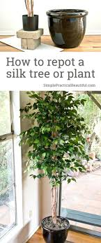 fake trees for home decor how to repot a silk tree simple practical beautiful
