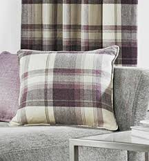 Grey And Purple Curtains Purple Tartan Check Curtains Highland Plum Plum Purple Na