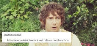 Second Breakfast Meme - the hobbit bilbo baggins thranduil hobbitedit text post