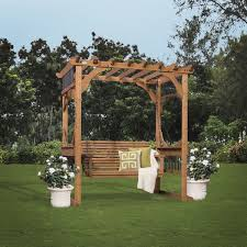 pergola swing backyard discovery cedar pergola swing free shipping today