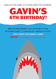 Invitation Card For Pool Party Shark Party Invitations Theruntime Com