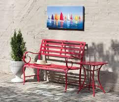 Outdoor Benches Sale Amazon Com Red Metal Garden Bench Outdoor Benches Garden