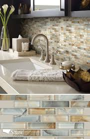 mercury glass tile in the color gilt completes the look of any