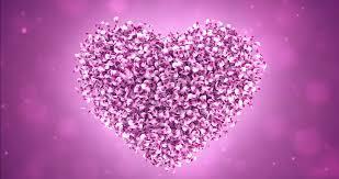 wedding anniversary backdrop flying pink flower petals lovely heart
