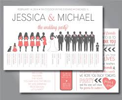 layout of wedding ceremony program silhouette wedding program wedding party program horizontal
