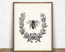 Bee Garden Decor Honey Bee Art Etsy
