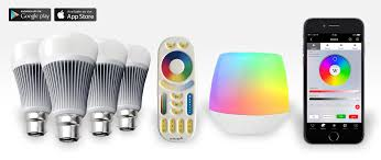 4 easybulb rgbw 9w led light bulb wifi box remote control