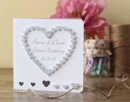 Silver Jubilee Card Invitation Handmade 3d 25th Wedding Anniversary Card 25th Anniversary