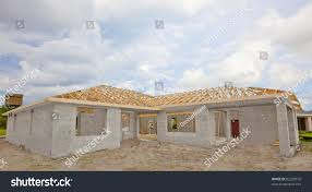 how to build a concrete block house new construction cement block house wooden stock photo 82228192