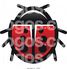 royalty free clip art vector logo of a spotted ladybug beetle 2 by