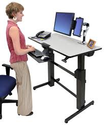 sit stand computer desk ergotron 24 271 926 workfit d sit stand desk light grey