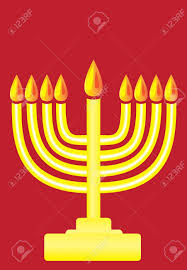 hanukkah menorah happy hanukkah the hanukkah menorah simple popart royalty free