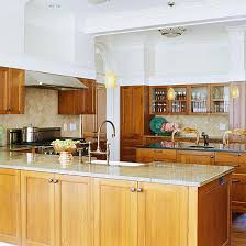 modern kitchen with cherry wood cabinets beautiful kitchens with colors better homes gardens