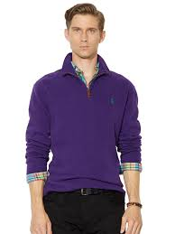 polo ralph lauren men u0027s half zip french rib cotton sweater medium