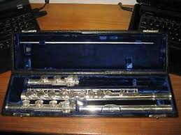 superb antique solid silver buffet crampon paul goumas flute c