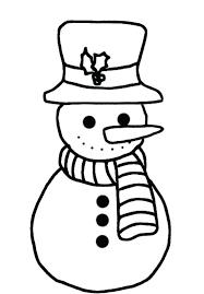 free snowman coloring pages preschool children pictures
